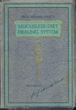 Copertina del libro in lingua originale mucusless diet